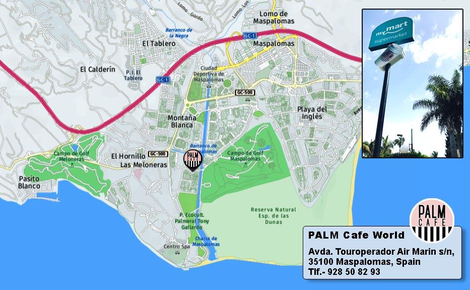 palm cafe mapa